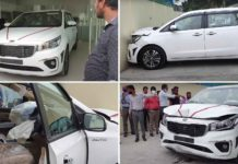 Kia Carnival Accident