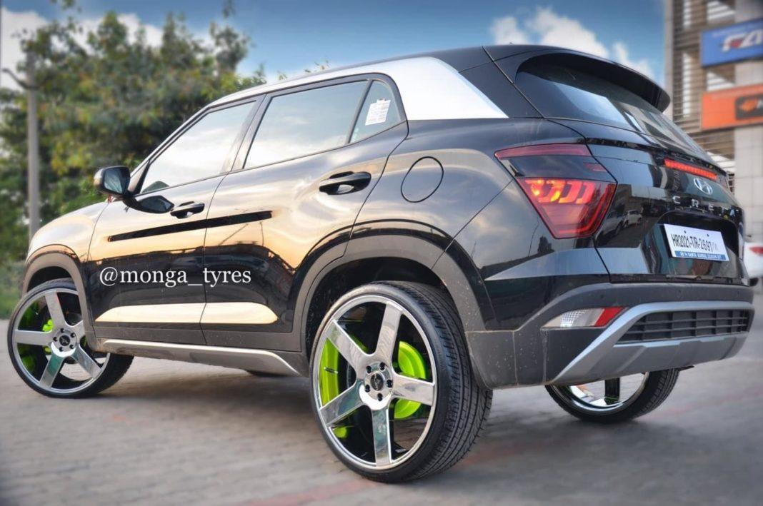 Hyundai-Creta-modified-22-inch-wheels-4