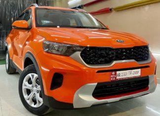 Kia-Sonet-modified-gloss-orange-wrapaholix-1